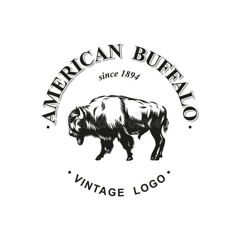 Free American Buffalo Logo Inked Vector Royalty Free Stock Images - 97210259