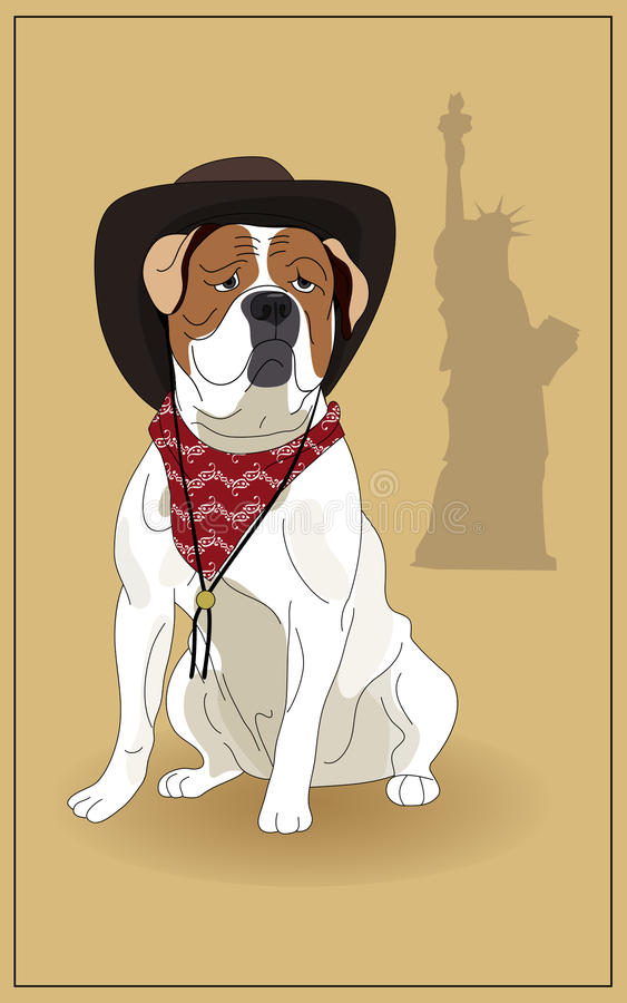 Download American Bulldog stock vector. Image of painting, charm - 17976728