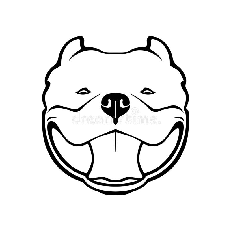 Free American Bully Dog Emblem. Vector Illustration. Stock Images - 174711274