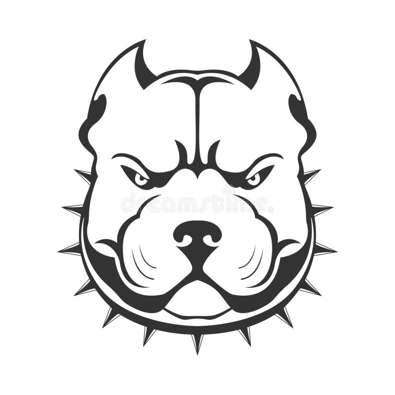 Free American Bully Emblem. Royalty Free Stock Photos - 128016758