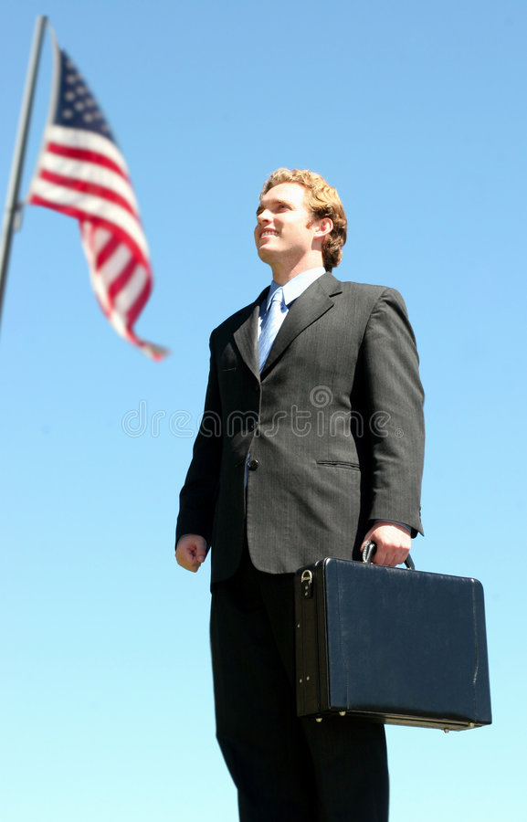 American Business Man royalty free stock photo