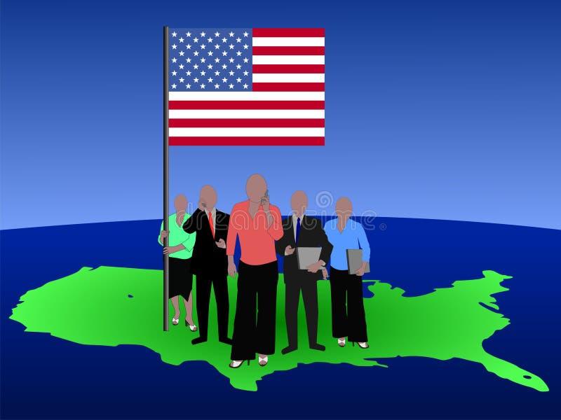 American business team vector illustration
