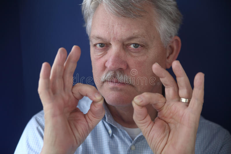 American Businessman With Double Okay Gestures Royalty Free Stock Images