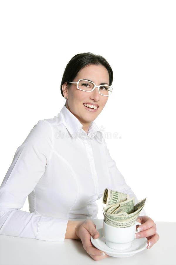 Download American Businesswoman Coffee Break Metaphor Stock Photo - Image: 12293052