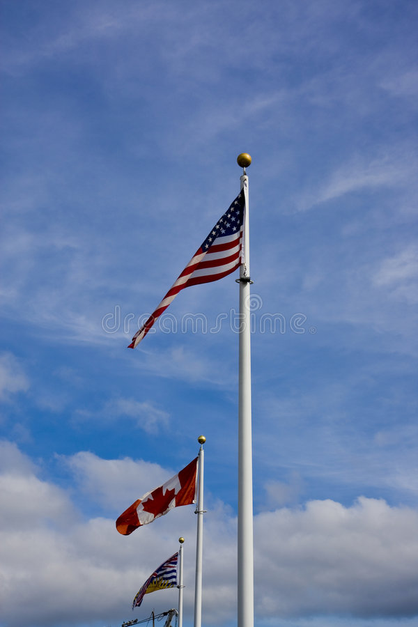 Download American Canadian And British Columbia Flag Stock Photo - Image: 7633406