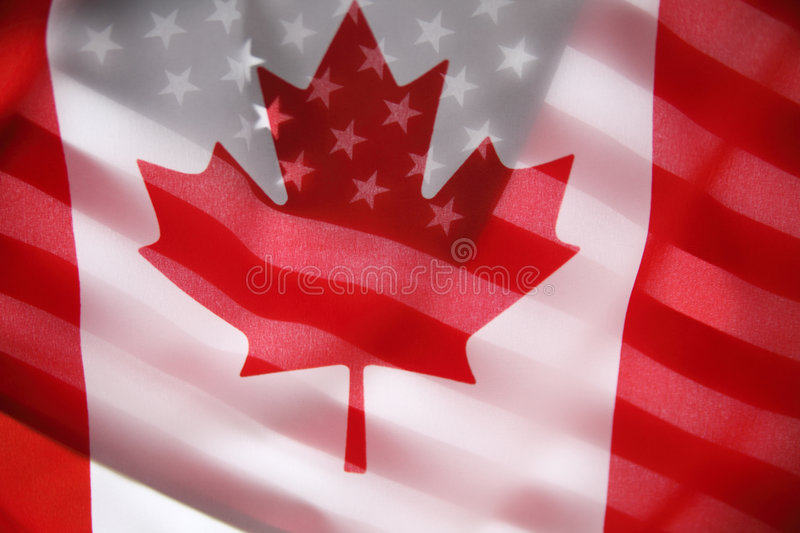 Download American And Canadian Flags Stock Image - Image: 9279221