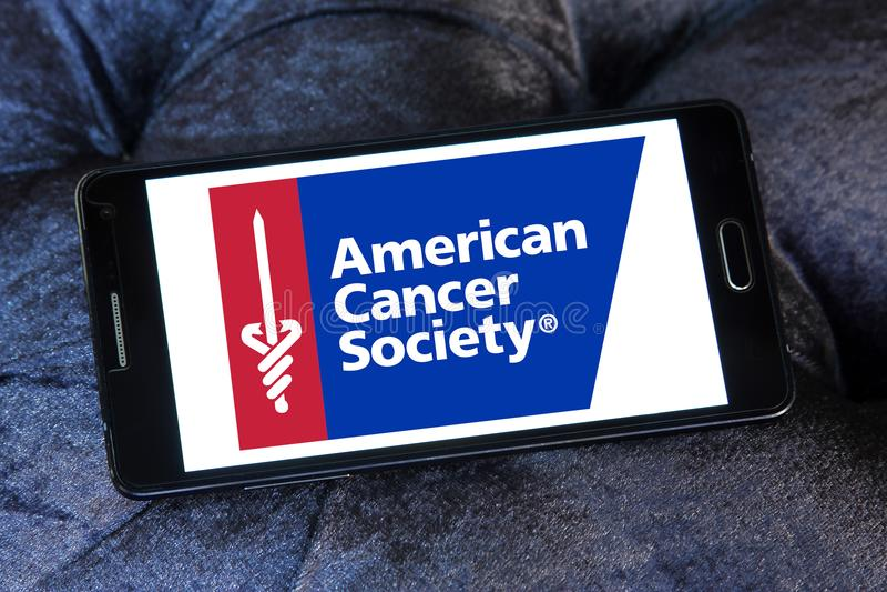 American Cancer Society , ACS, logo. Logo of American Cancer Society , ACS, on samsung mobile. The American Cancer Society ACS is a nationwide voluntary health royalty free stock images