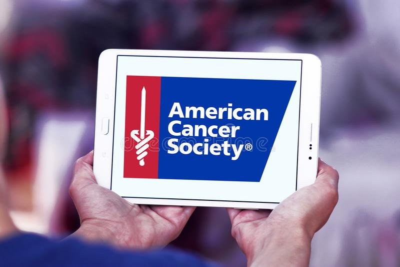 American Cancer Society , ACS, logo. Logo of American Cancer Society , ACS, on samsung tablet. The American Cancer Society ACS is a nationwide voluntary health royalty free stock photography