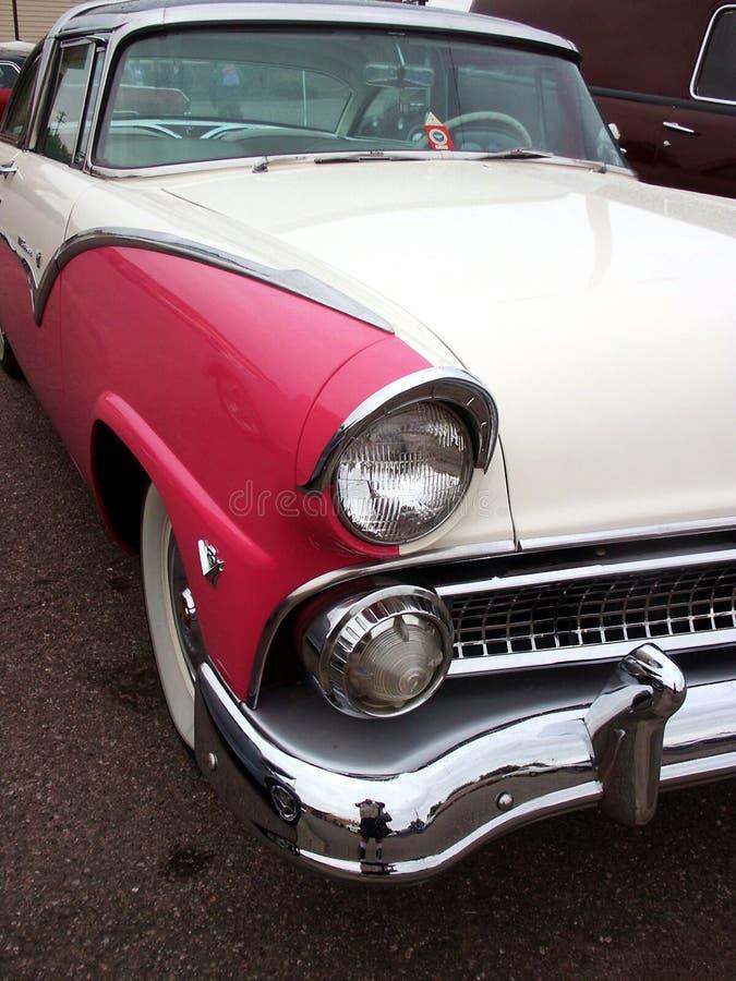 american car classic pink white στοκ φωτογραφία με δικαίωμα ελεύθερης χρήσης