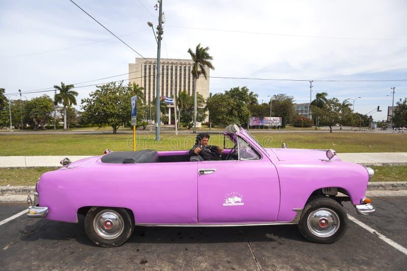 Old American car in Havana, Cuba royalty free stock images