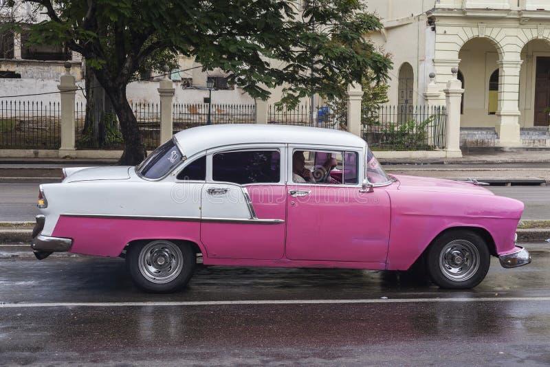 Old American car in Havana, Cuba stock photography