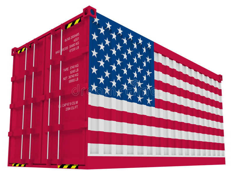 American cargo container stock illustration
