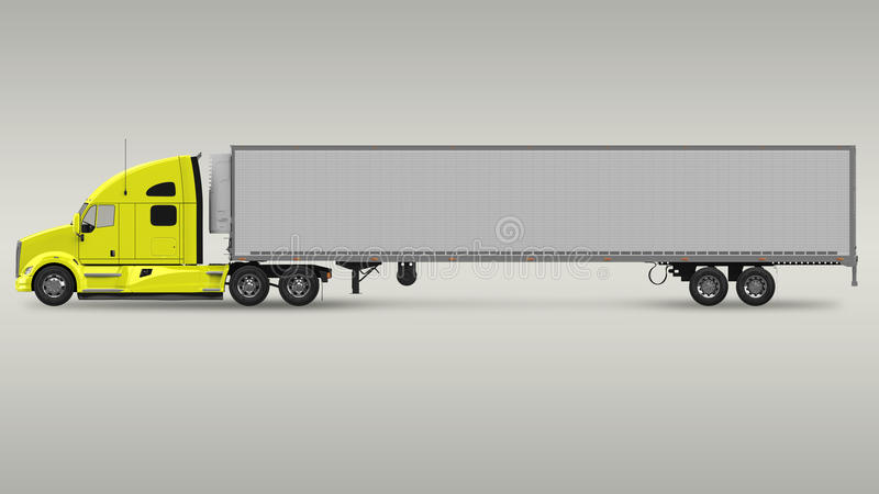 American Cargo Truck. High resolution 3D rendering royalty free illustration