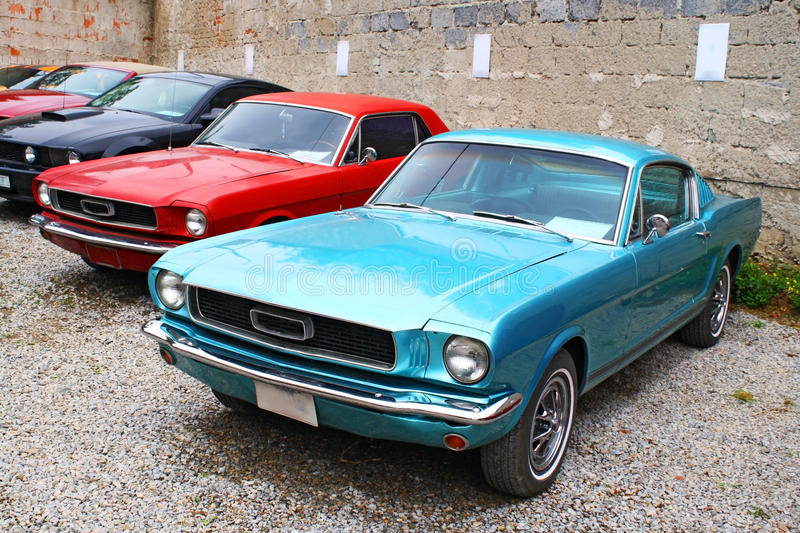 American cars royalty free stock photography