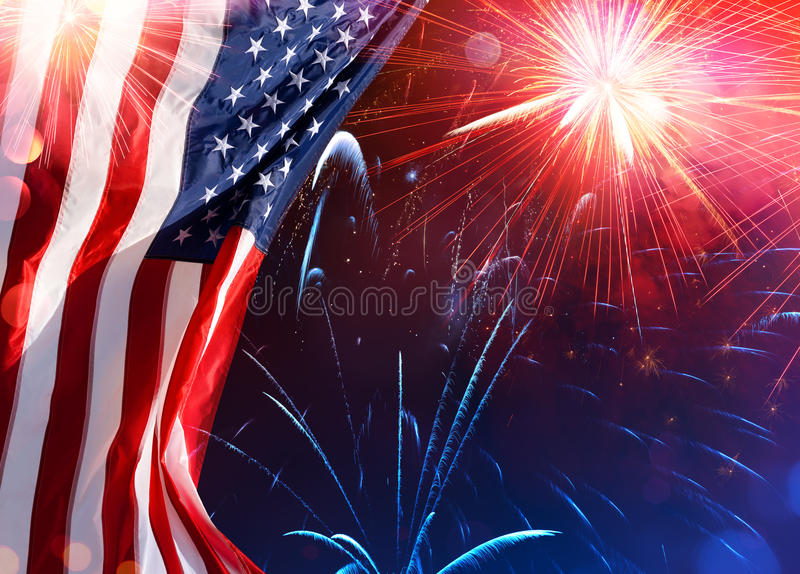 American Celebration - Usa Flag stock photo