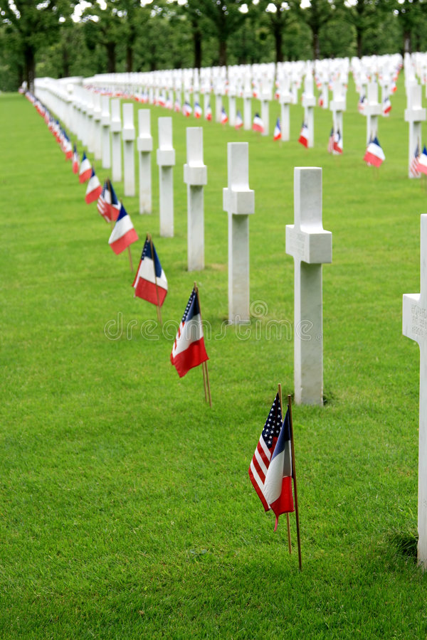 American Cemetery in France stock photography