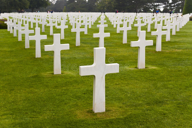 American Cemetery in Normandy. France royalty free stock photography