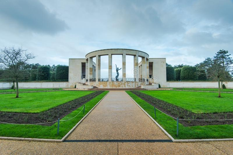 American Cemetery in Normandy Monument,France. American Cemetery in Normandy Monument of fallen soldiers, France stock photos