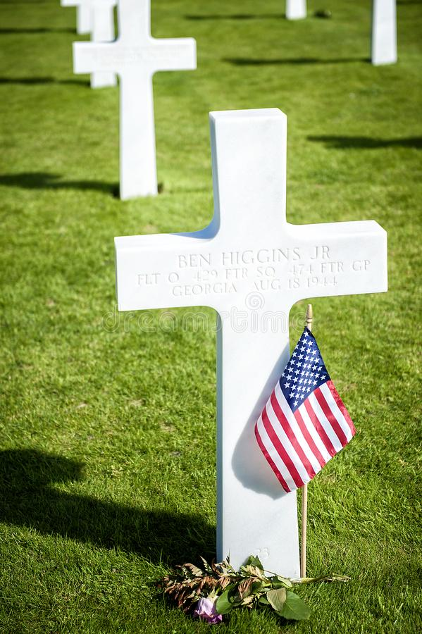 American cemetery in Omaha Beach, Normandy, France. stock images