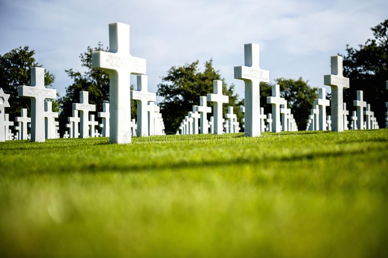 American cemetery in Omaha Beach, Normandy, France. stock photo