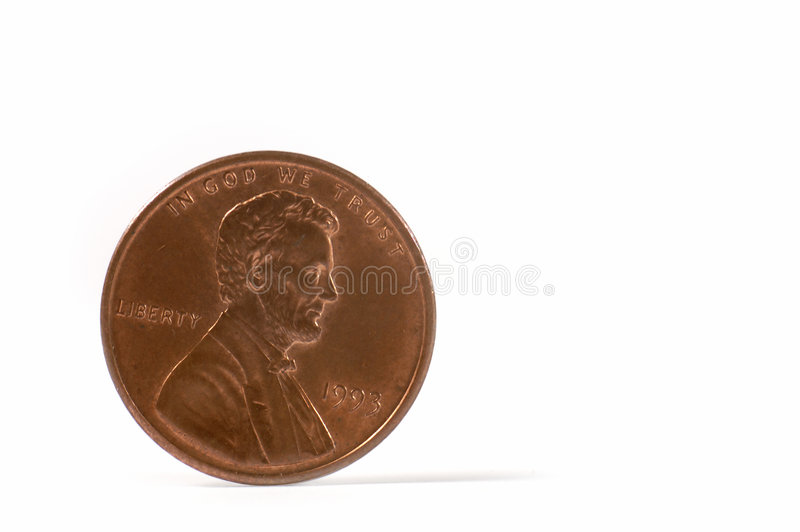 The American cent. stock photos