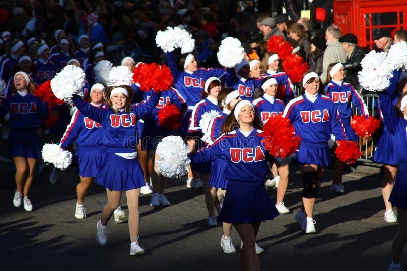 American Cheerleaders At The London Parade. Editorial Stock Image