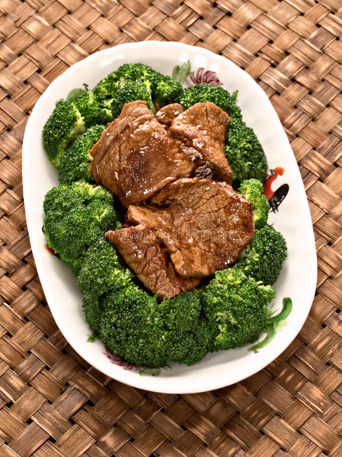 American chinese beef and broccoli royalty free stock photography
