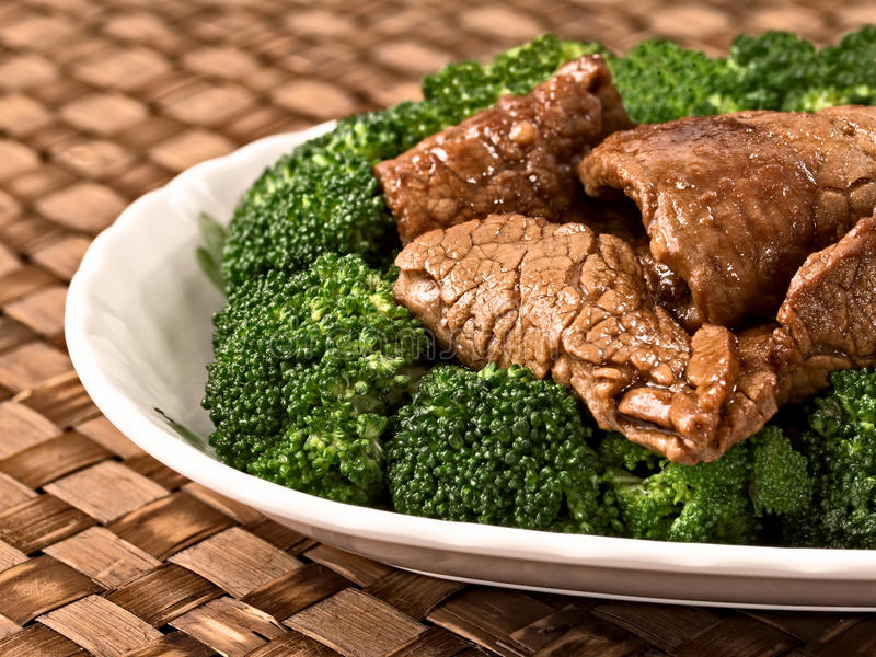 American chinese beef and broccoli royalty free stock images