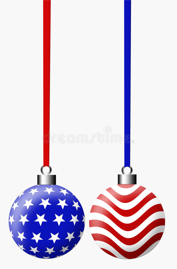 American Christmas Bulb stock illustration