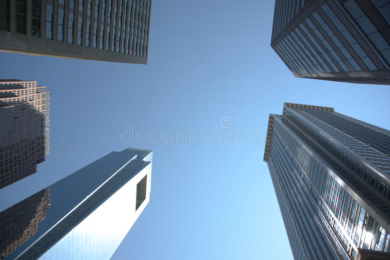 American city sky royalty free stock photography