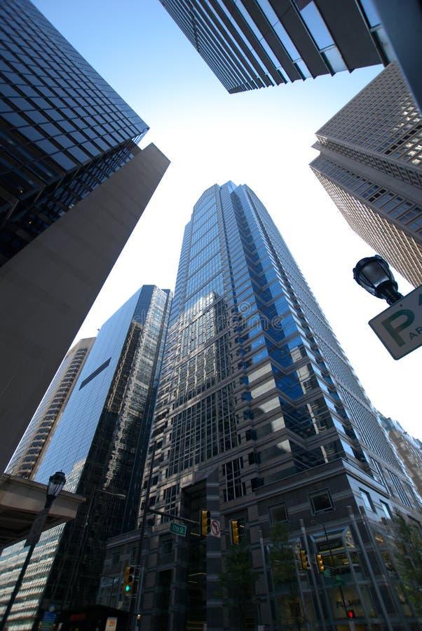 American city sky royalty free stock image