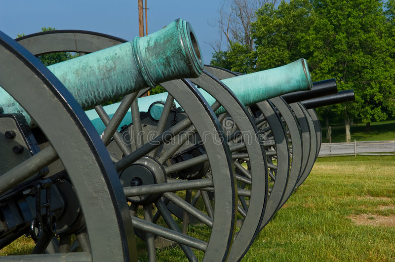 Download American civil war cannon stock image. Image of site, place - 2598629