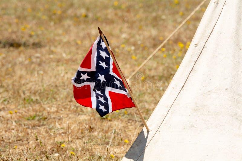 American Civil War confederate flag royalty free stock photo