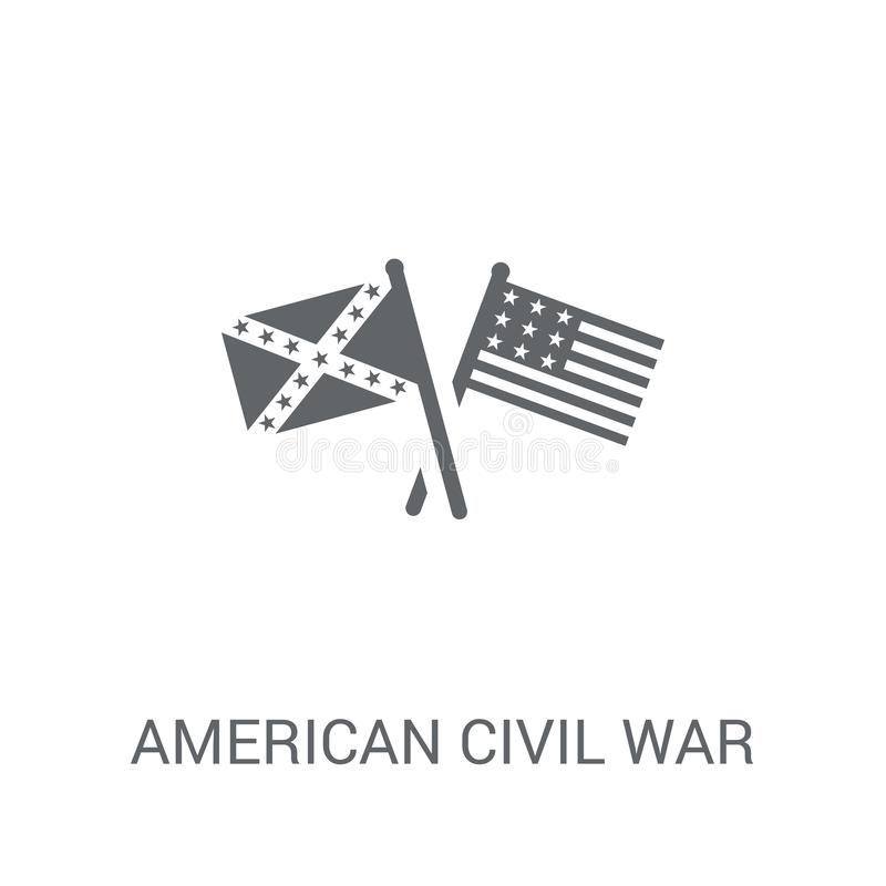 American civil war icon. Trendy american civil war logo concept. On white background from United States of America collection. Suitable for use on web apps royalty free illustration