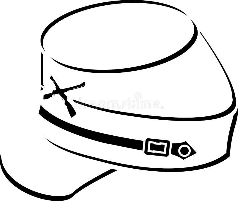 American civil war kepi. Sketch. vector illustration royalty free illustration