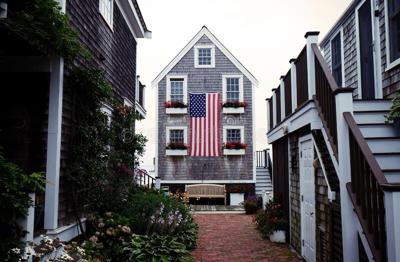 American clapboard houses stock photography