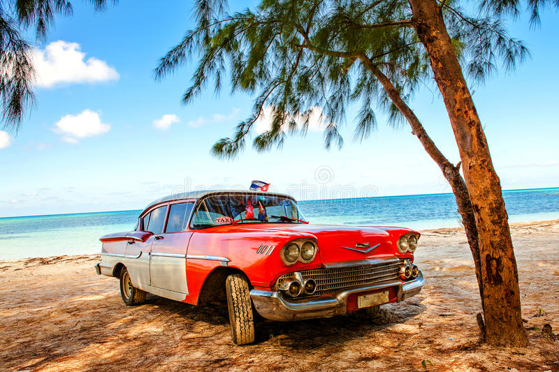 Download American Classic Car On The Beach Cayo Jutias Cuba Editorial Photo