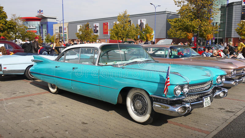 Vintage American Classic Car, Cadillac, 50-60´S royalty free stock image