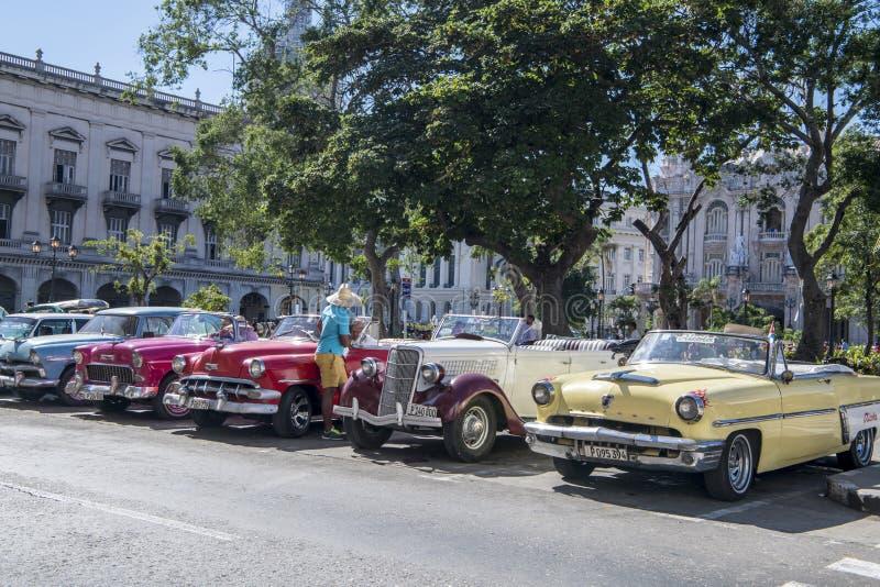 American classic cars in Havana, Cuba royalty free stock image