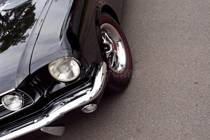 American Classic - Closeup Black Front Royalty Free Stock Images