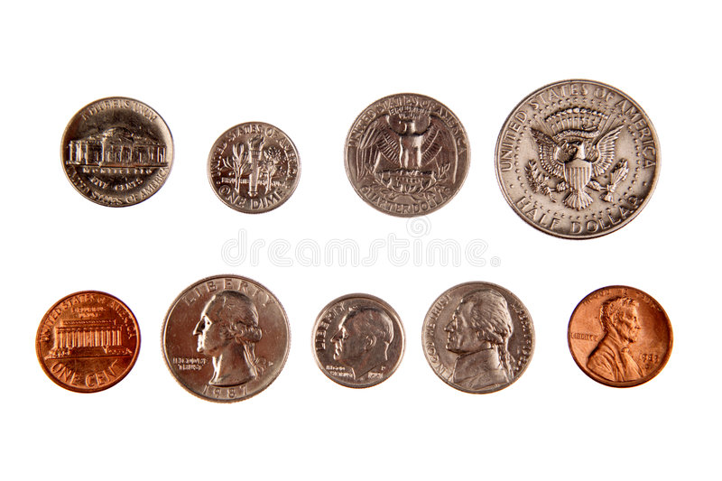 American coins stock photography