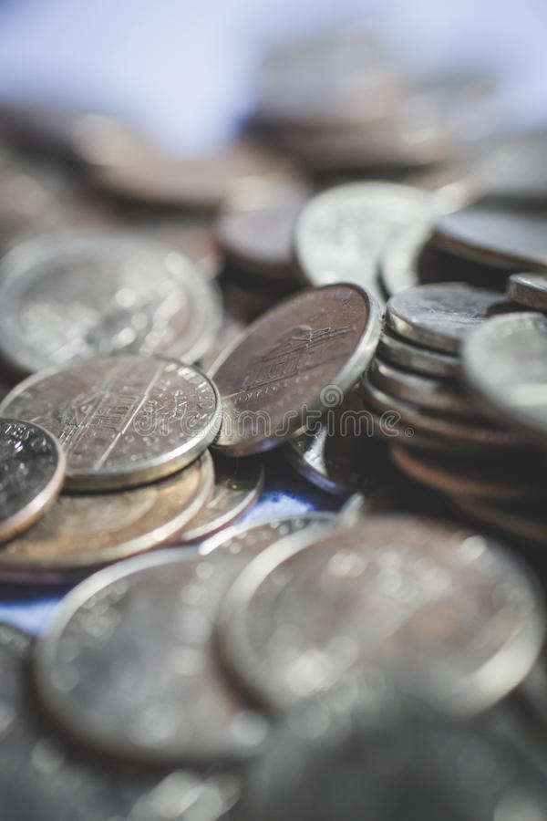 american coins background stock image