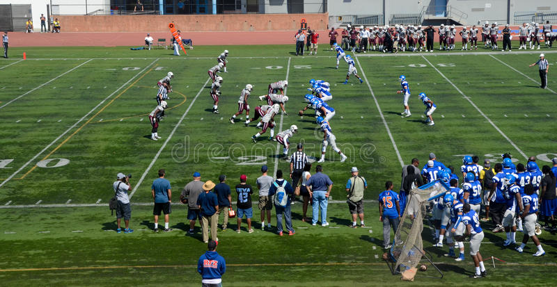 American college football. An American college football game royalty free stock photo