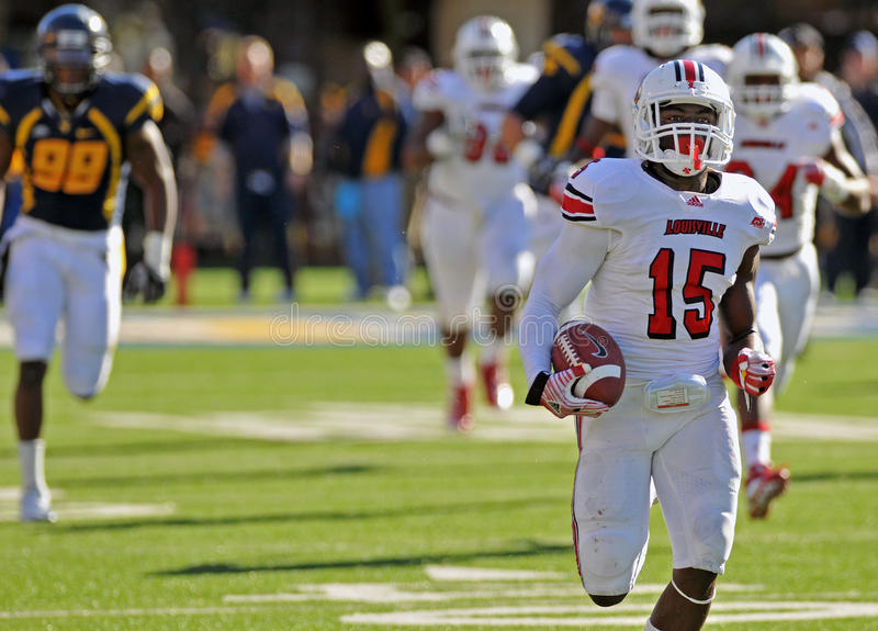 American college football - touchdown run