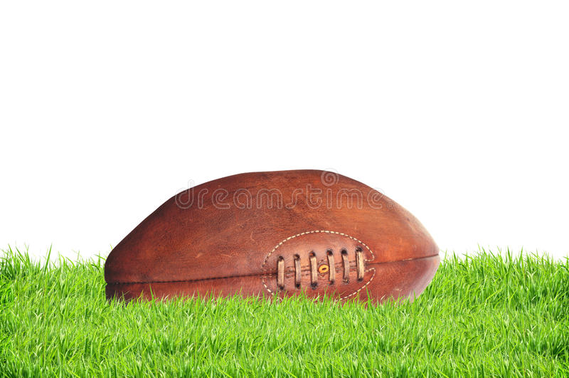 American college high school junior striped football isolated on royalty free stock photo