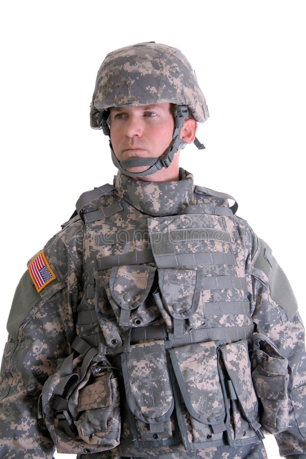 American Combat Soldier. An American Soldier in his full combat gear royalty free stock images