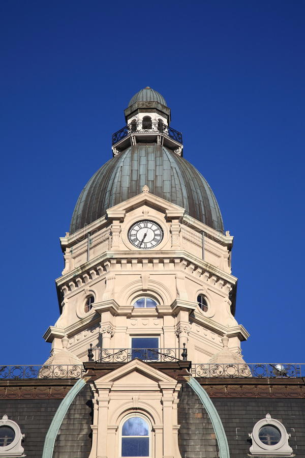 Free American Courthouse And Clock Tower Stock Image - 22223111