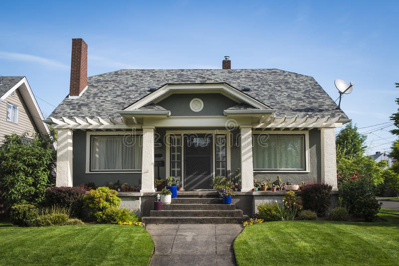 American Craftsman House Stock Images