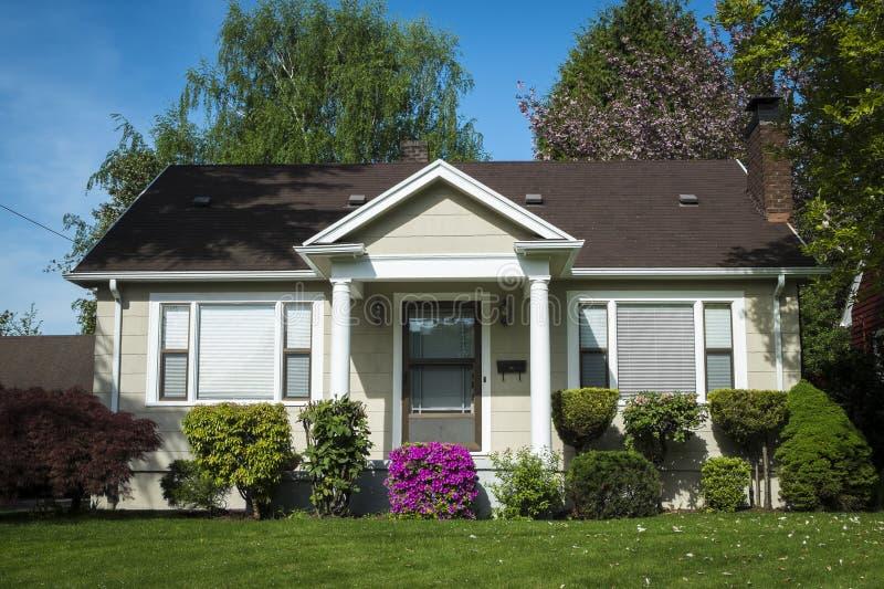 American Craftsman House Stock Image