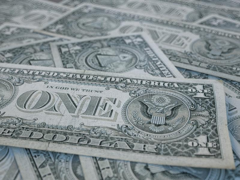 American currency background. Dollars of United States of America. US Dollars background.  stock images